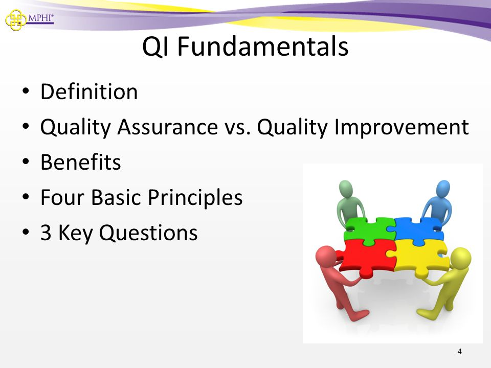 QI Fundamentals Definition Quality Assurance vs. Quality Improvement