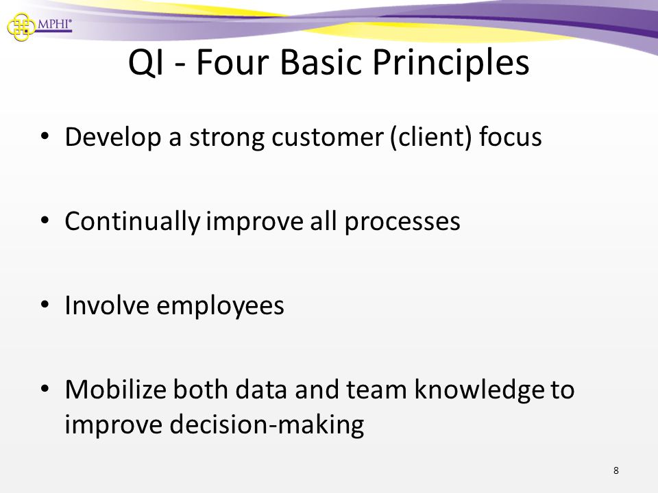 QI - Four Basic Principles