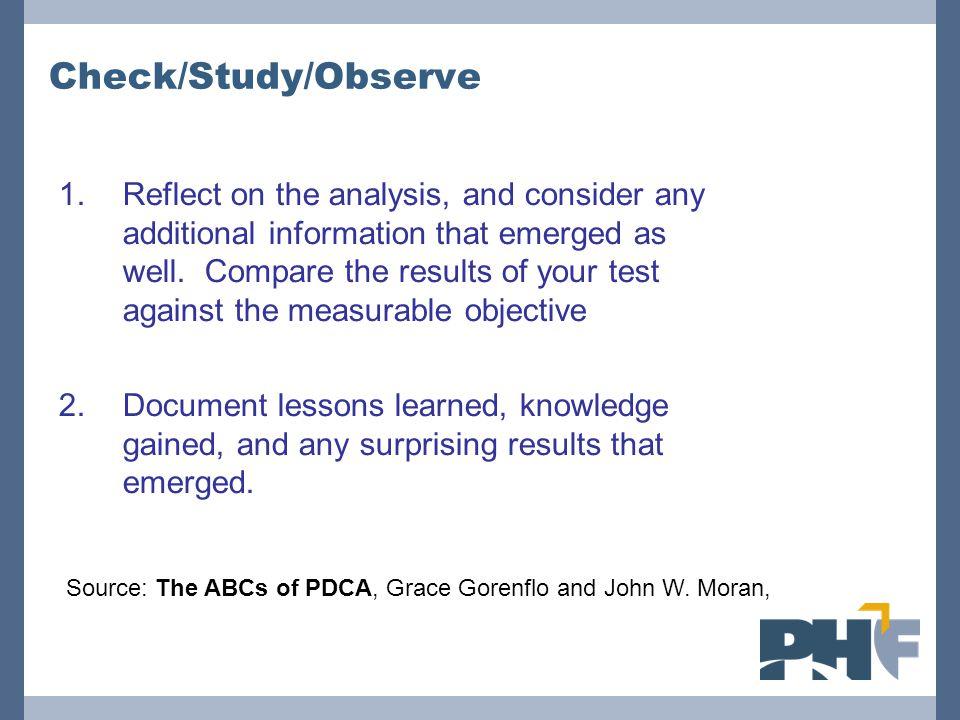 Check/Study/Observe