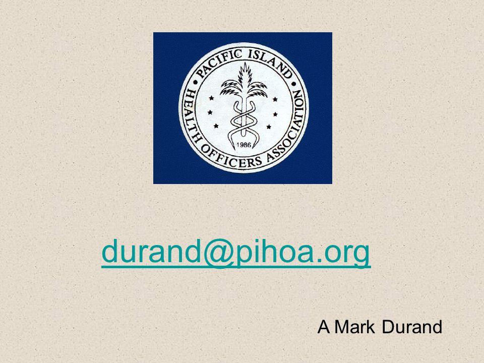durand@pihoa.org A Mark Durand