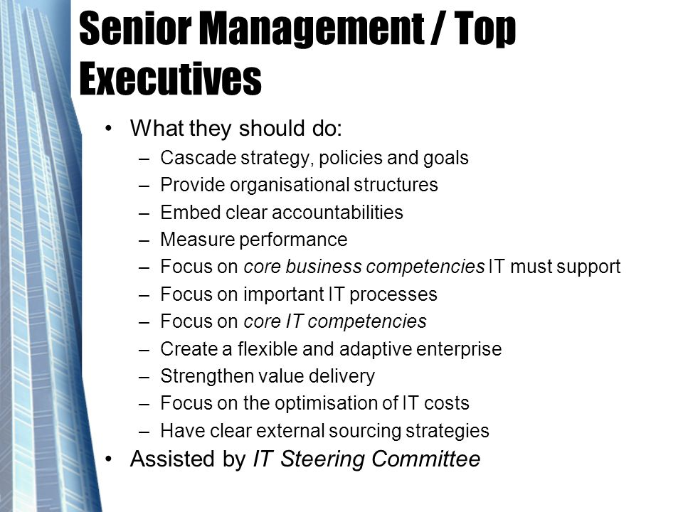 Senior Management / Top Executives
