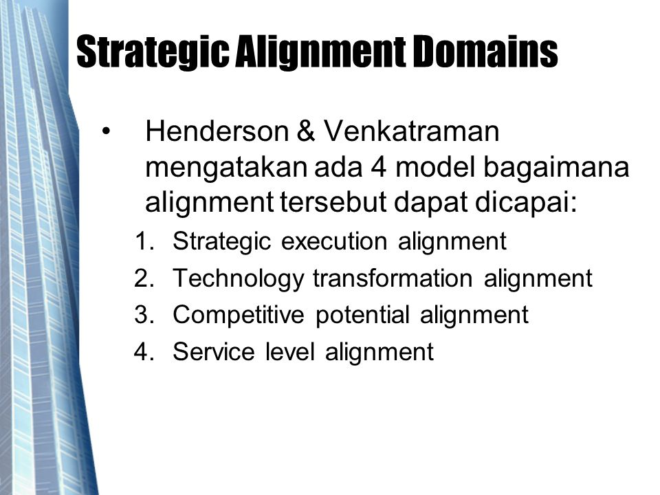 Strategic Alignment Domains