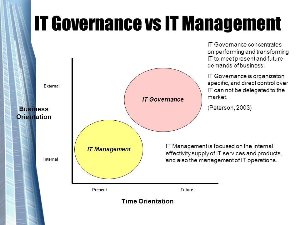 IT Governance vs IT Management