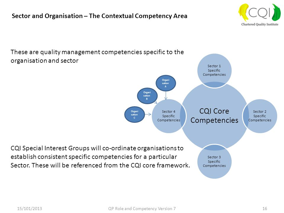 Sector and Organisation – The Contextual Competency Area