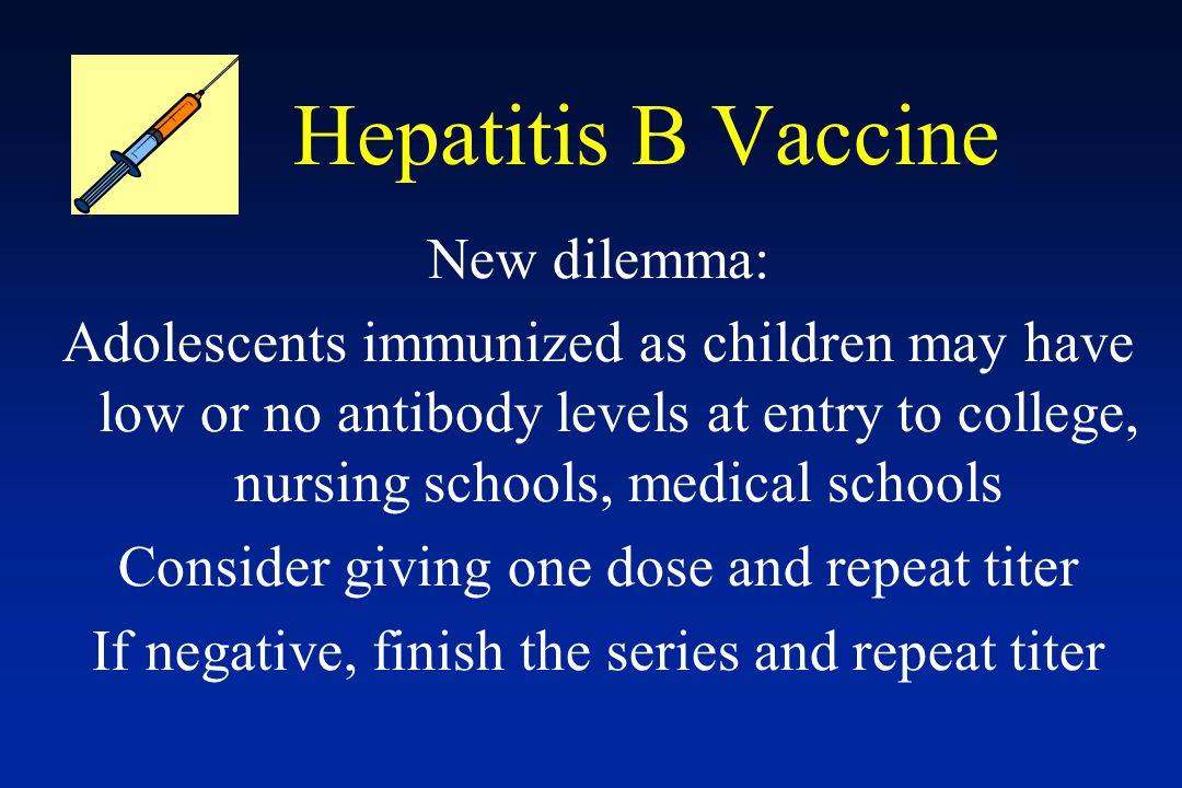 Hepatitis B Vaccine New dilemma: