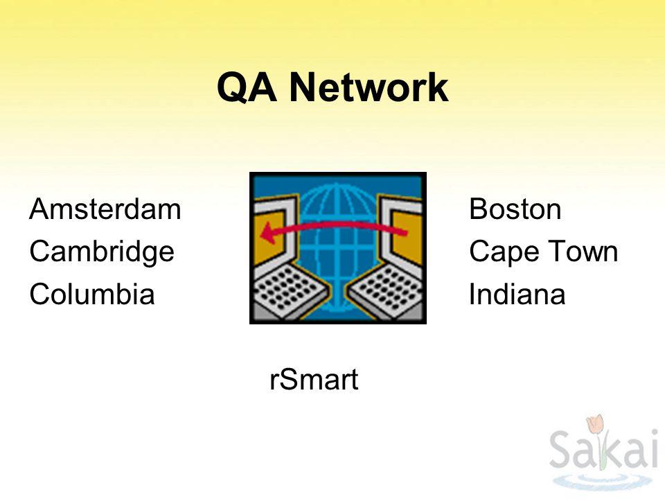QA Network Amsterdam Boston Cambridge Cape Town Columbia Indiana