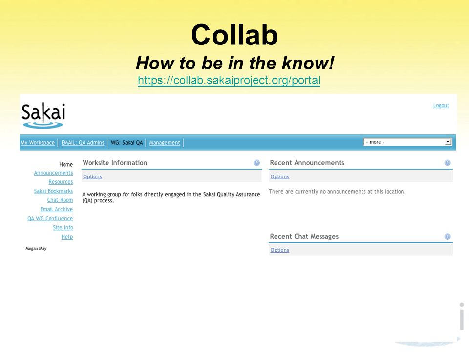 Collab How to be in the know!