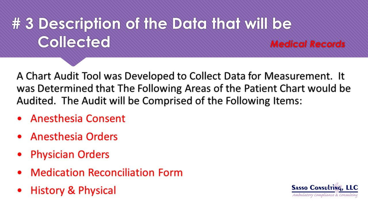 # 3 Description of the Data that will be Collected Medical Records