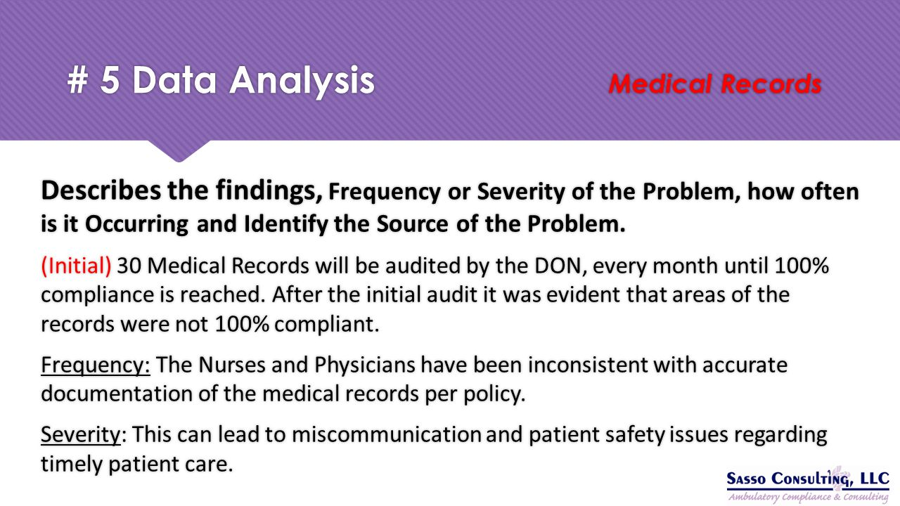 # 5 Data Analysis Medical Records