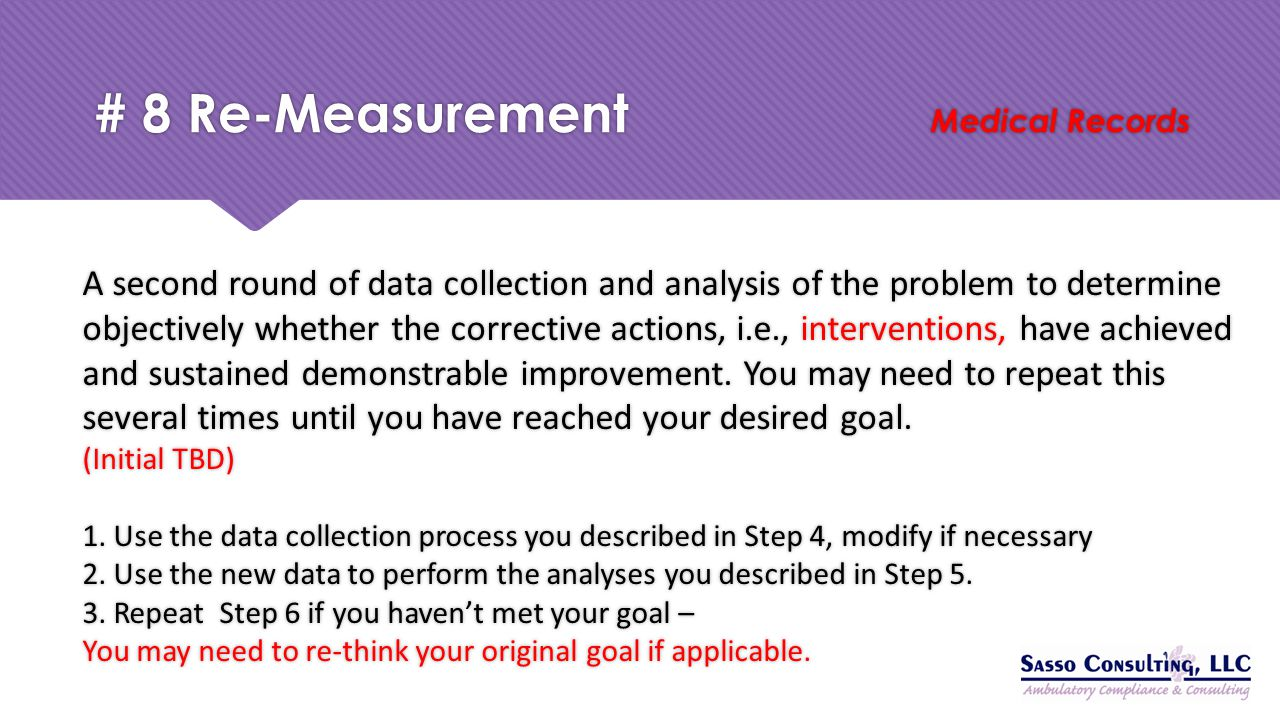 # 8 Re-Measurement Medical Records