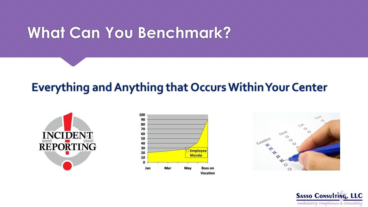 What Can You Benchmark Everything and Anything that Occurs Within Your Center