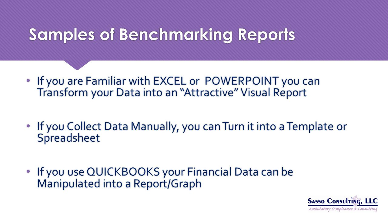 Samples of Benchmarking Reports