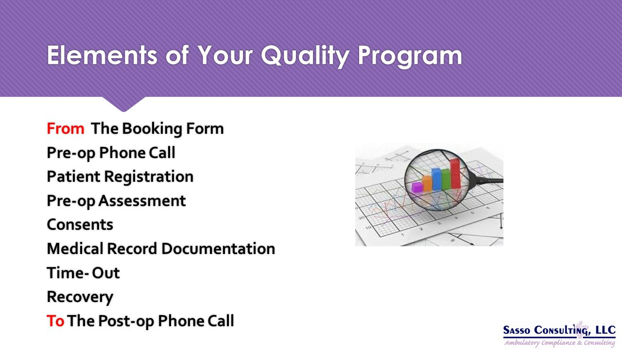 Elements of Your Quality Program