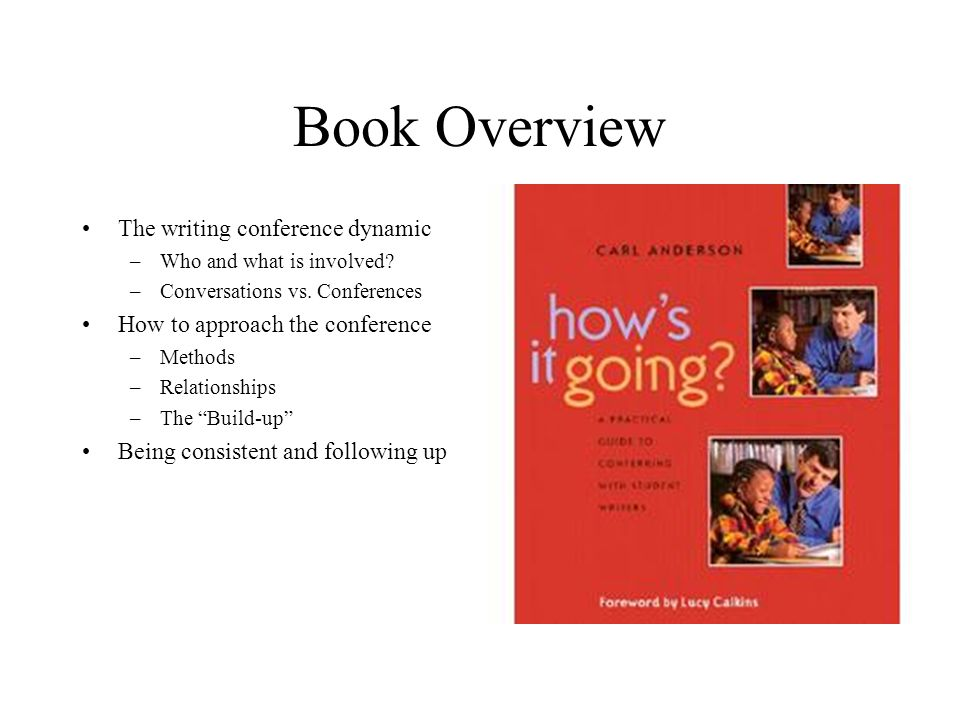Book Overview The writing conference dynamic