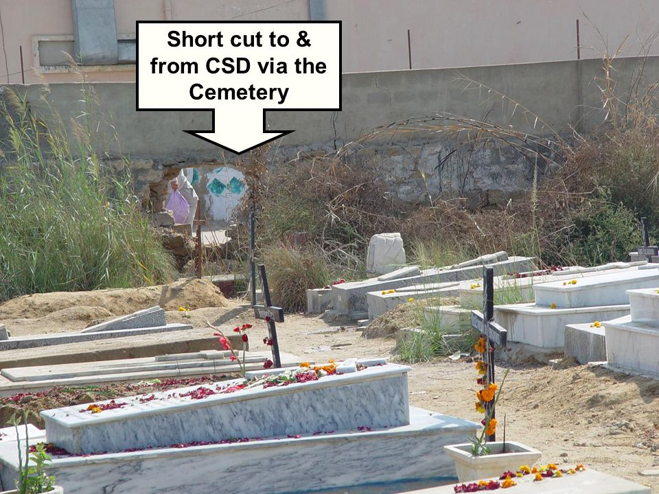 Short cut to & from CSD via the Cemetery
