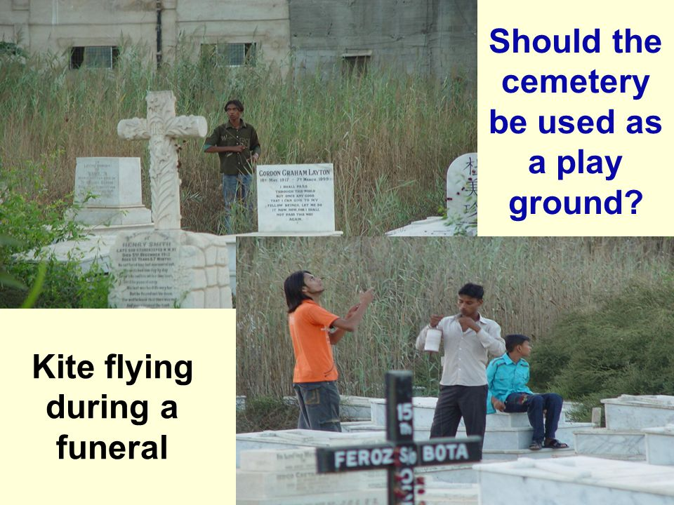 Should the cemetery be used as a play ground