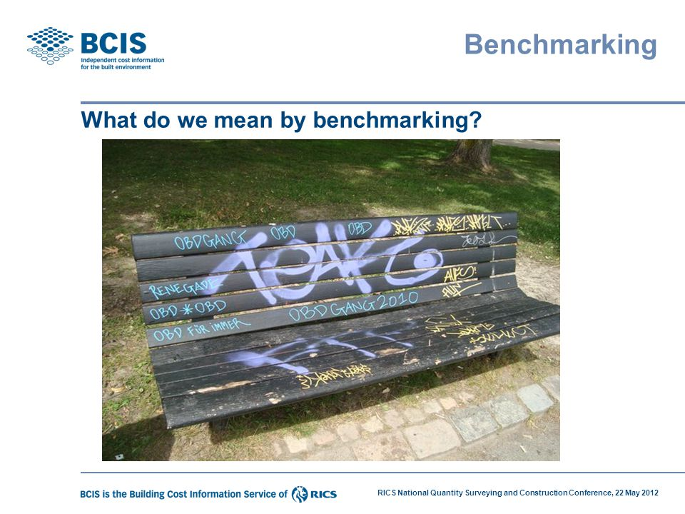 Benchmarking What do we mean by benchmarking