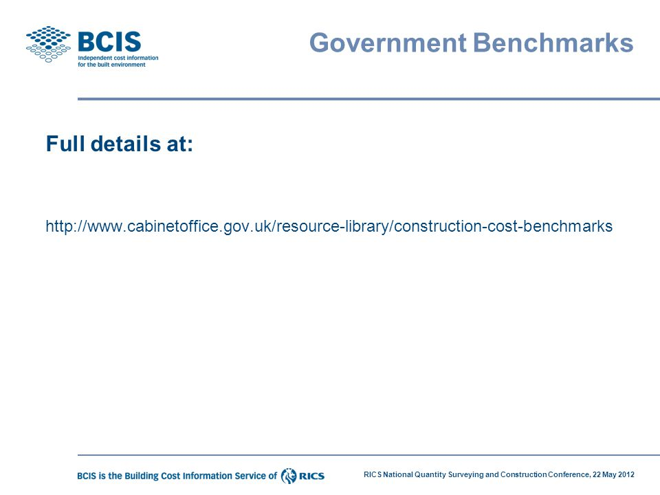 Government Benchmarks