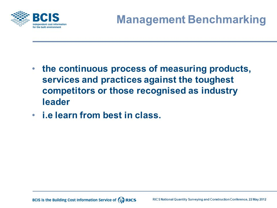 Management Benchmarking