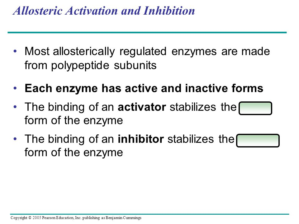 Allosteric Activation and Inhibition