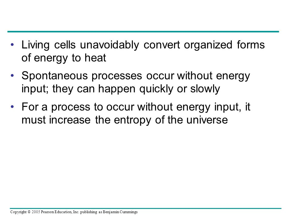 Living cells unavoidably convert organized forms of energy to heat