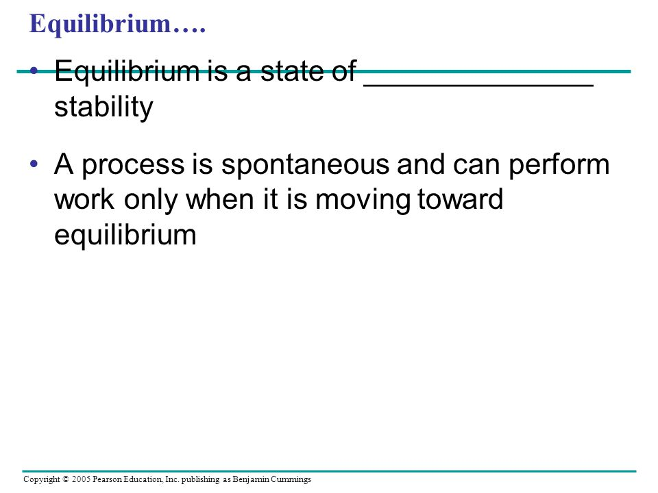 Equilibrium is a state of ______________ stability