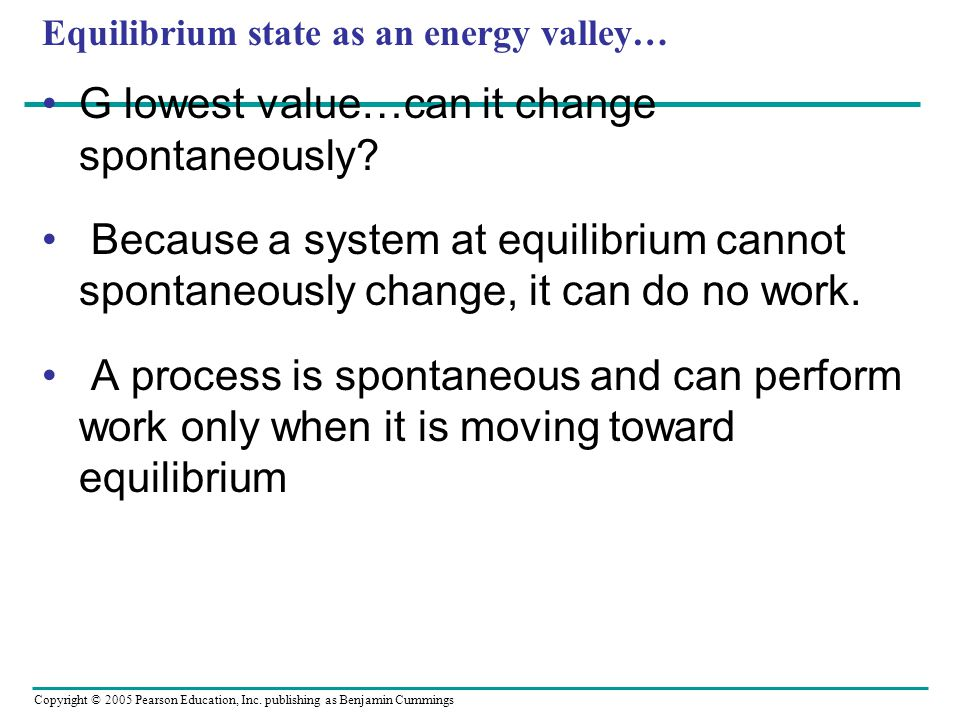 Equilibrium state as an energy valley…