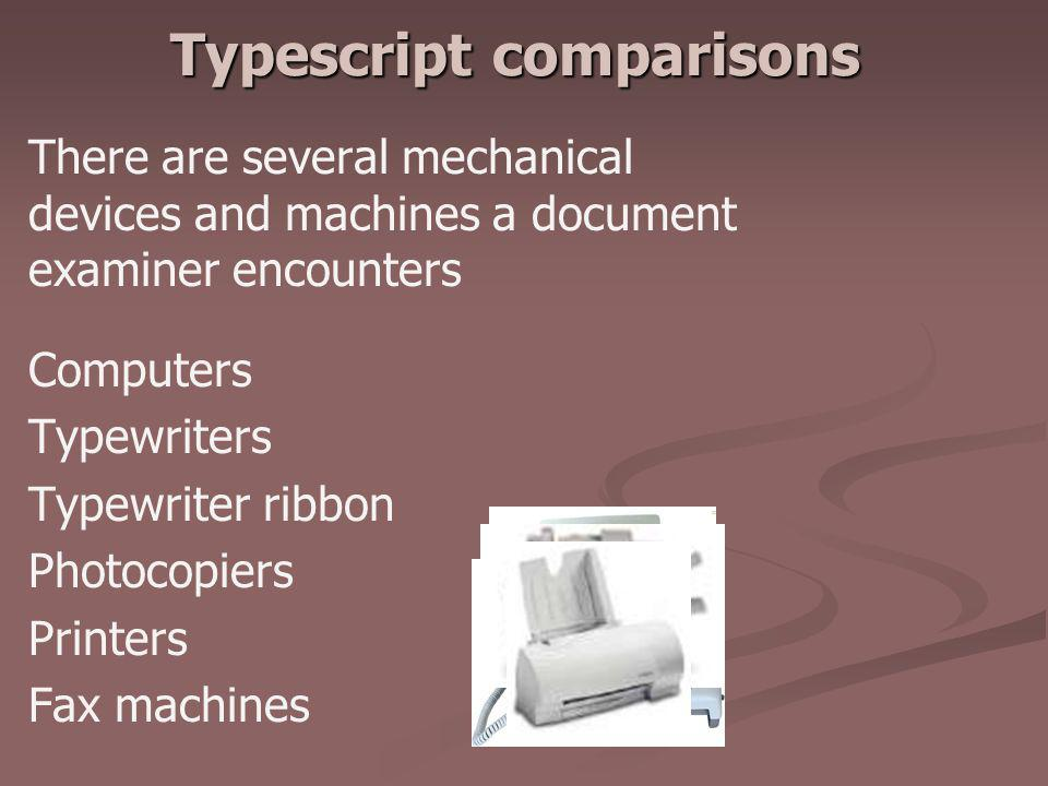 Typescript comparisons