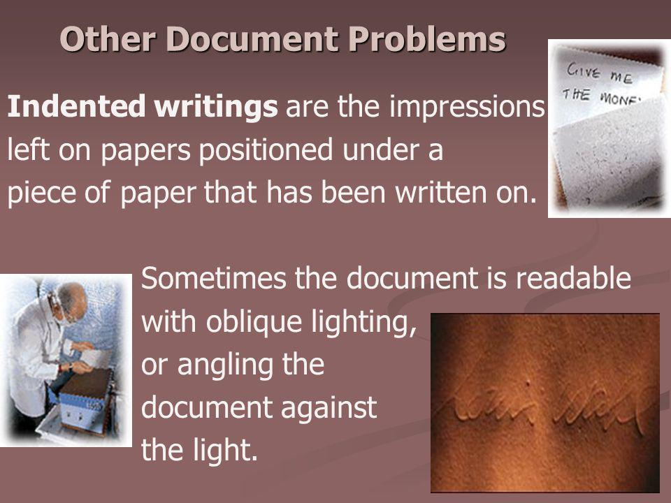 Other Document Problems