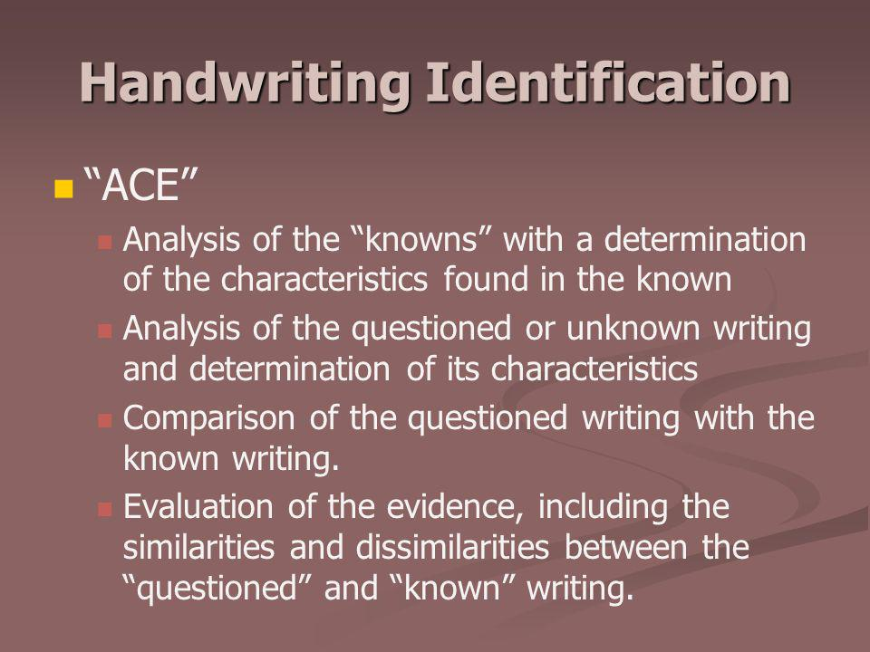 Handwriting Identification