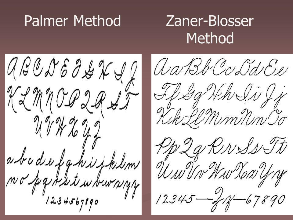 Palmer Method Zaner-Blosser Method