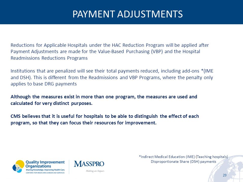 PAYMENT ADJUSTMENTS