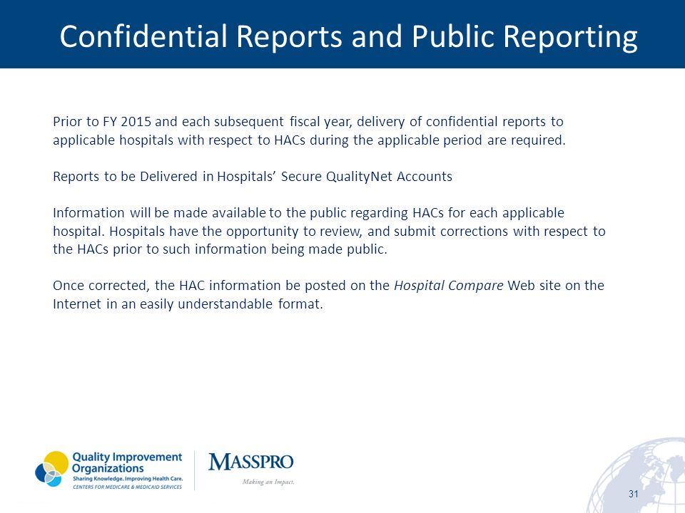 Confidential Reports and Public Reporting