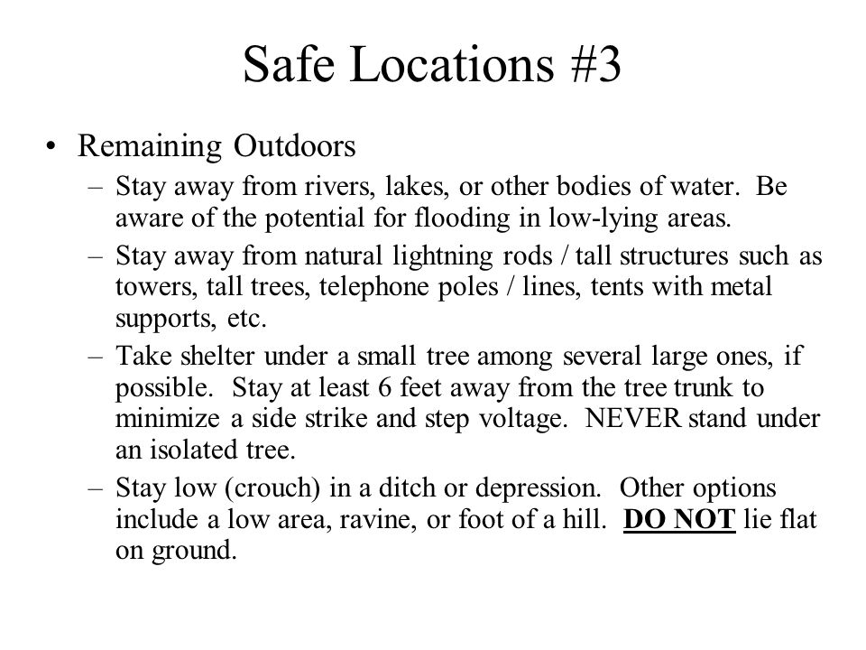 Safe Locations #3 Remaining Outdoors