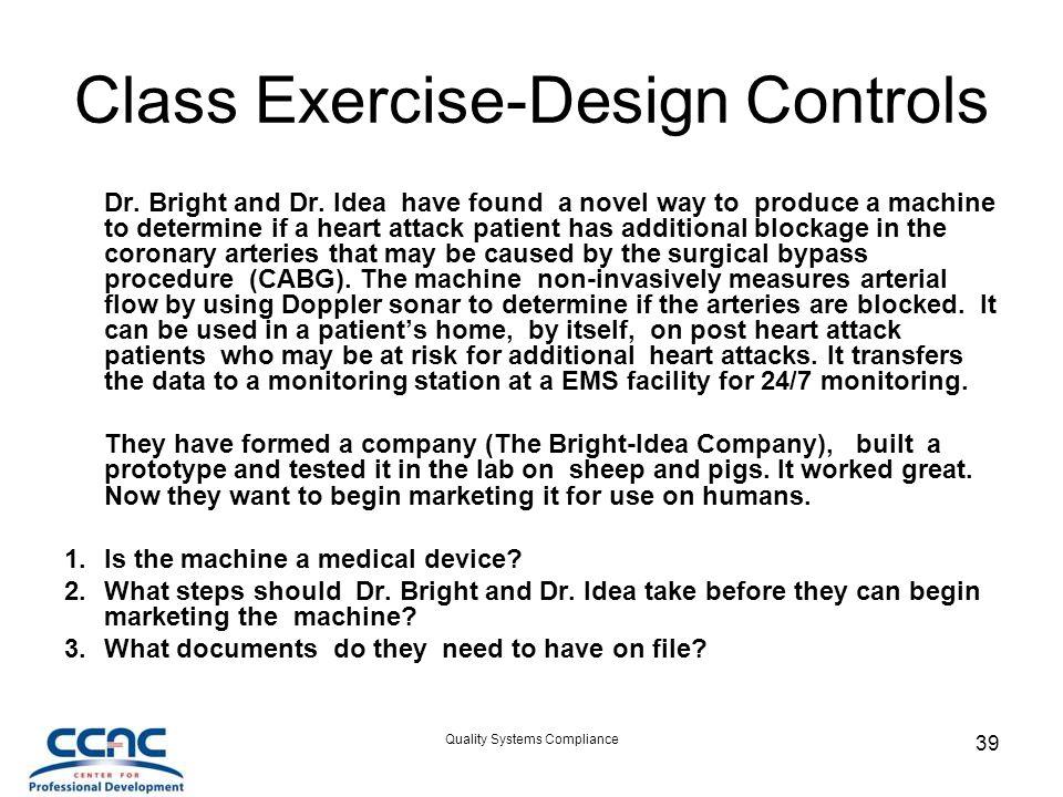 Class Exercise-Design Controls