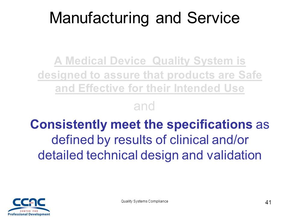 Manufacturing and Service