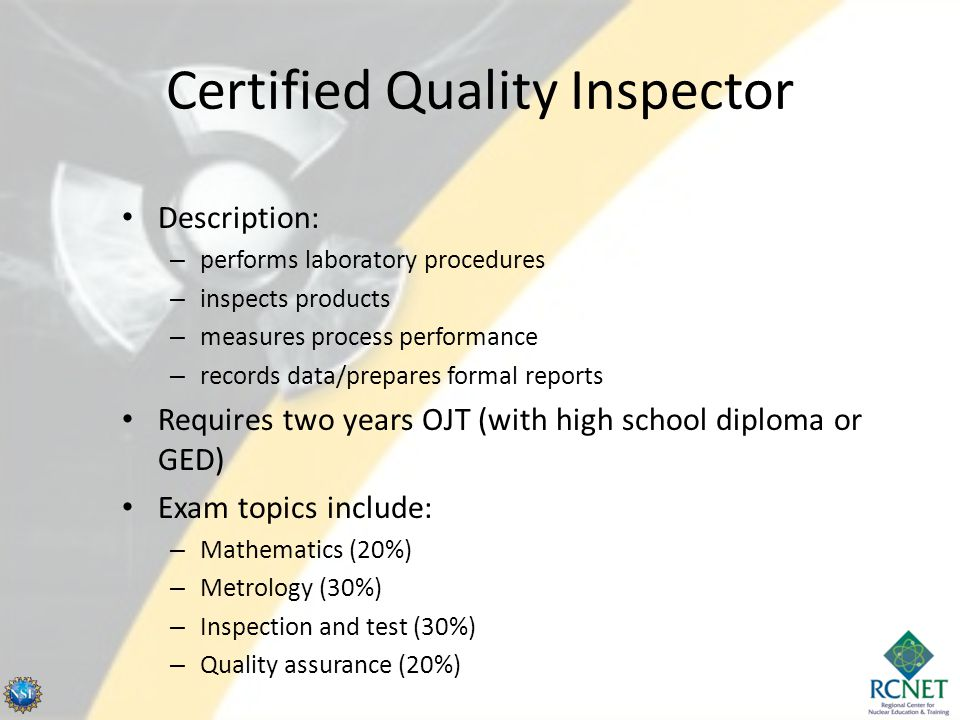 Certified Quality Inspector