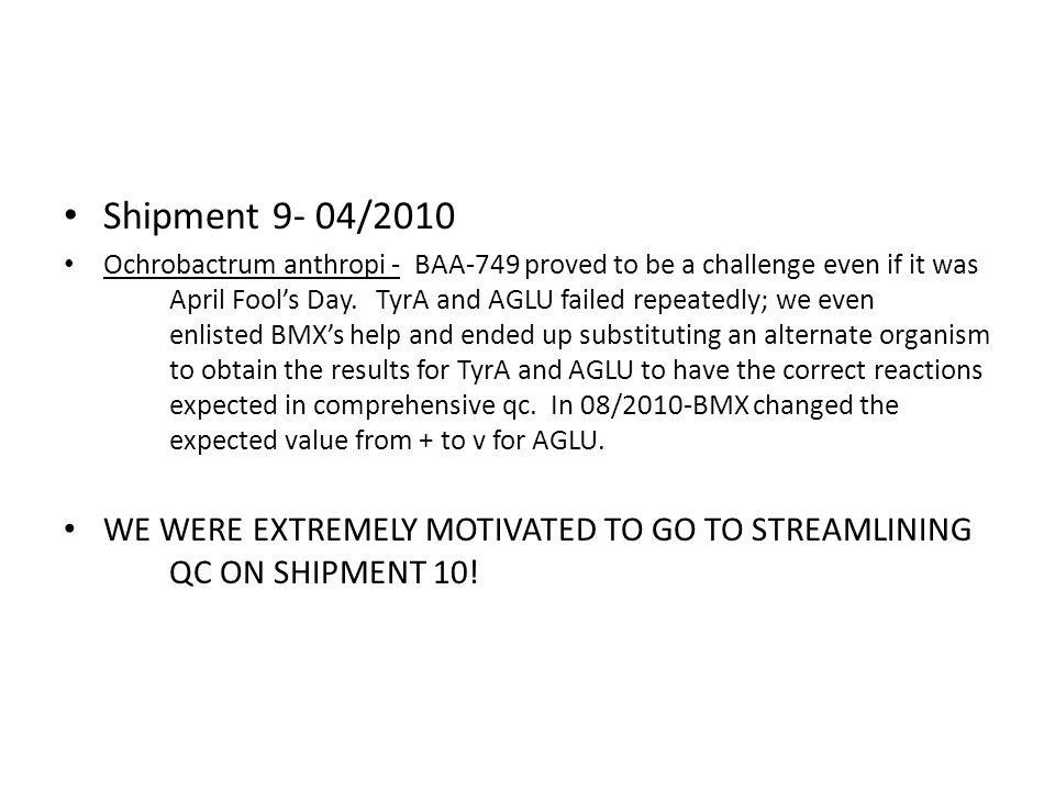 Shipment 9- 04/2010