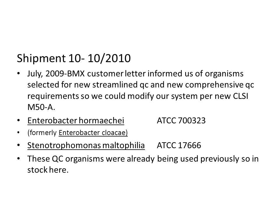 Shipment 10- 10/2010