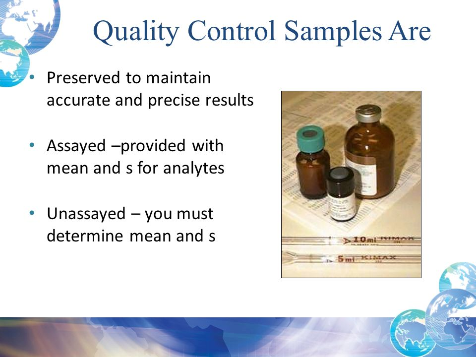 Quality Control Samples Are