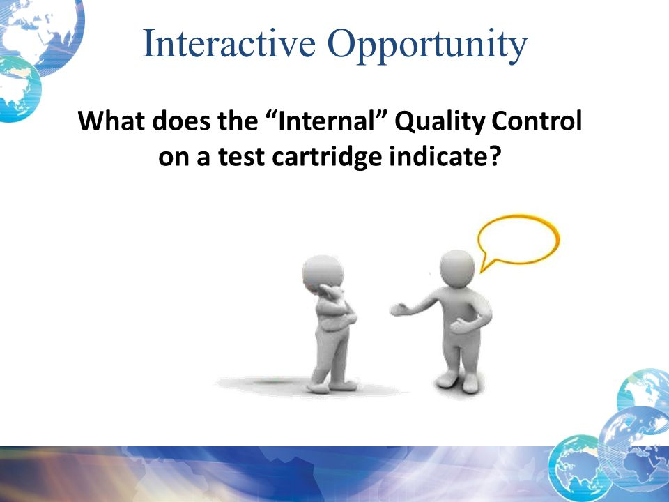 What does the Internal Quality Control on a test cartridge indicate