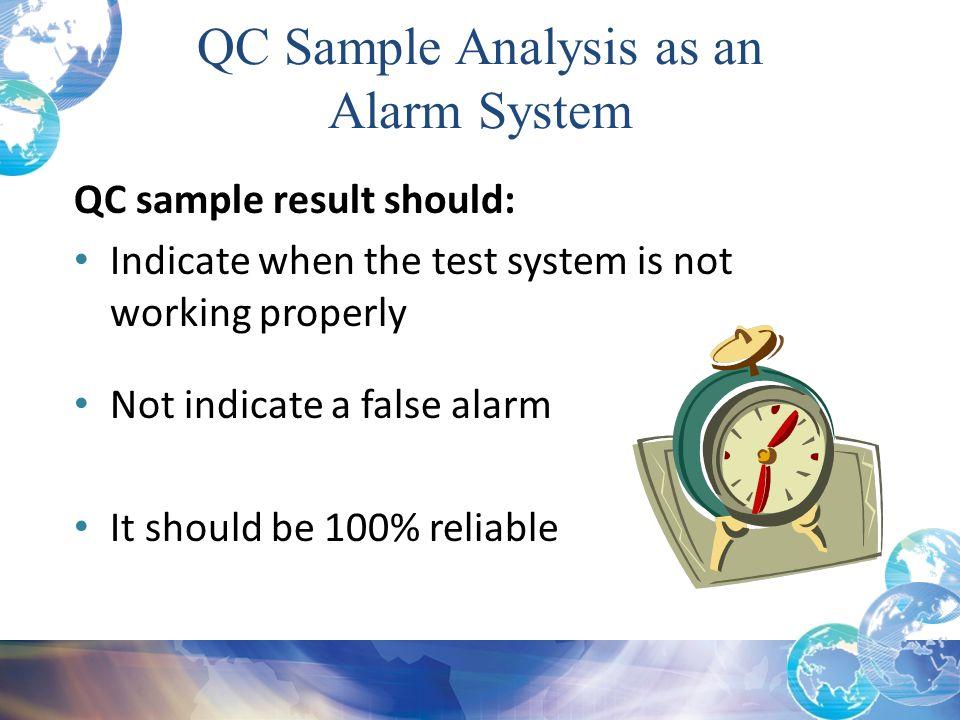 QC Sample Analysis as an Alarm System