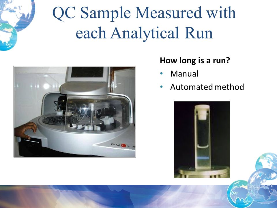 QC Sample Measured with each Analytical Run