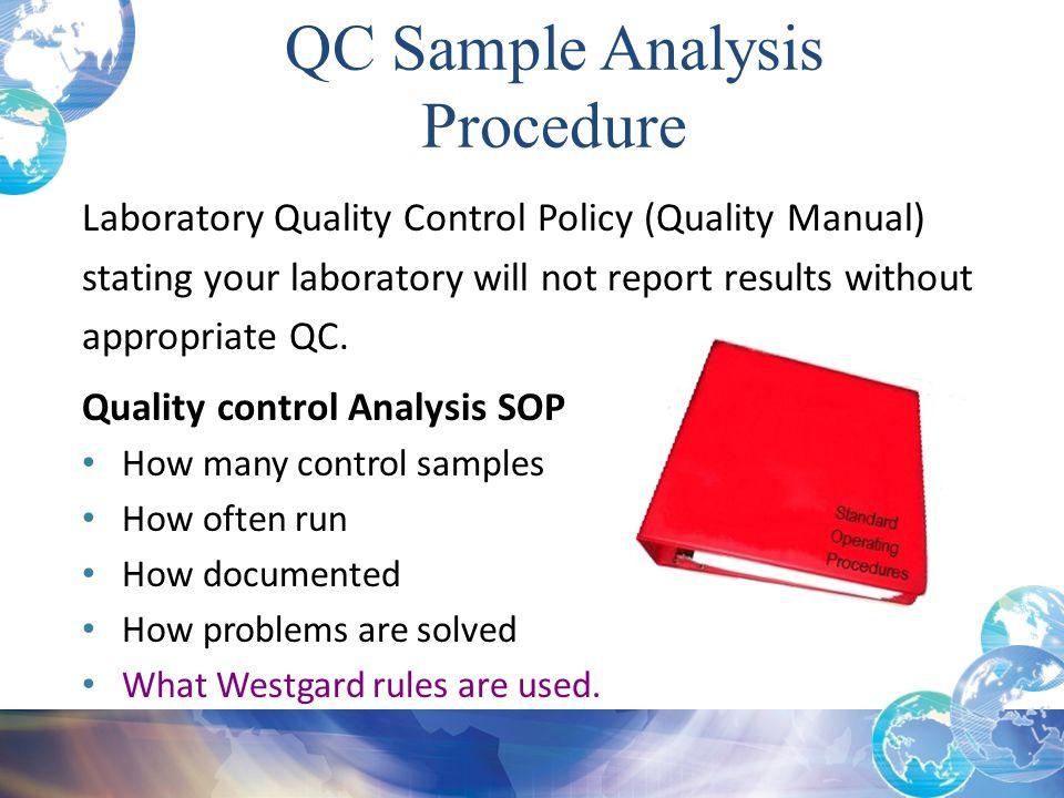 QC Sample Analysis Procedure