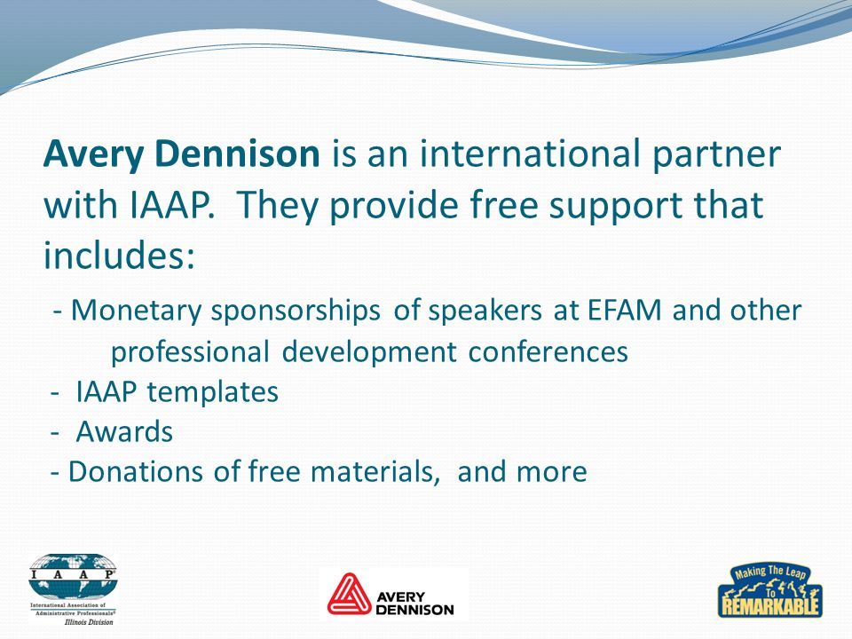 Avery Dennison is an international partner with IAAP