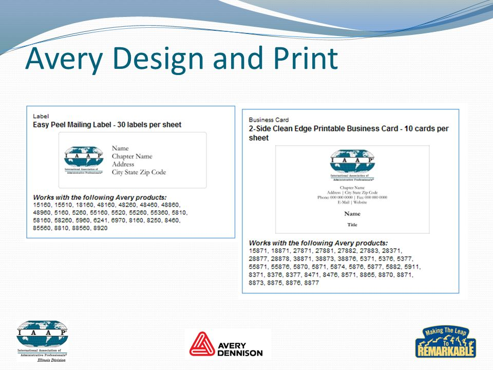 Avery Design and Print