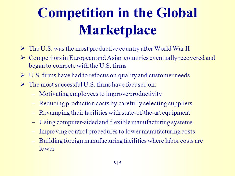Competition in the Global Marketplace