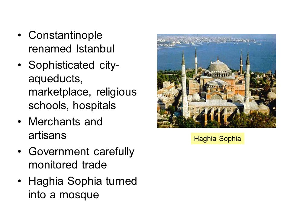 Constantinople renamed Istanbul