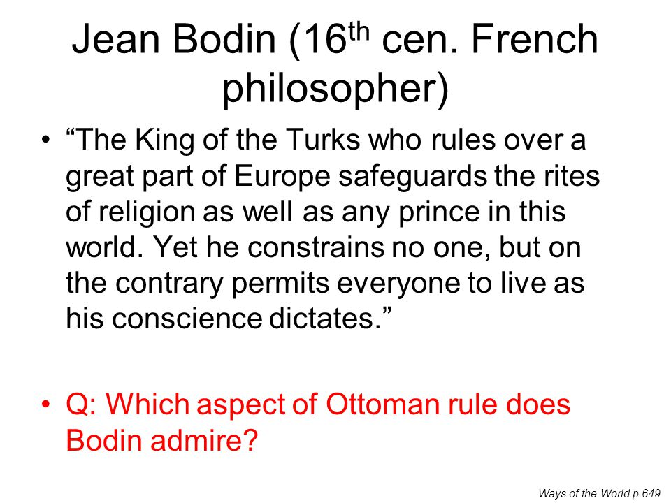 Jean Bodin (16th cen. French philosopher)