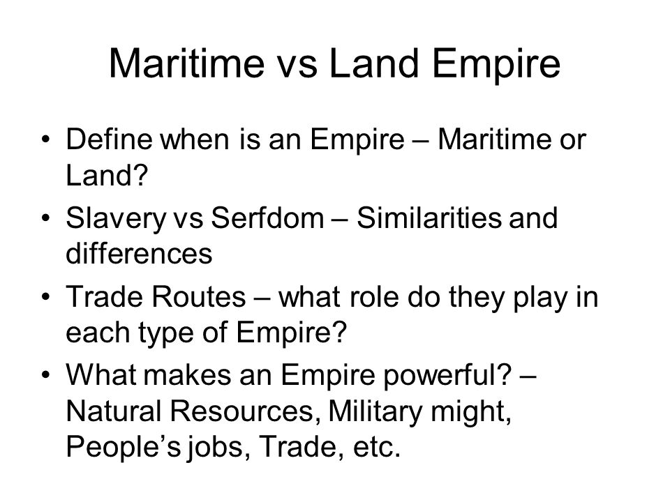 Maritime vs Land Empire